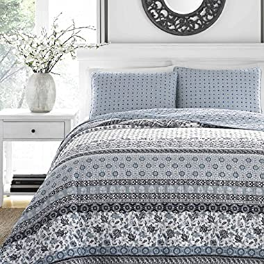 Stone Cottage 221599 Bexley Quilt Set,Blue,King