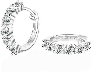 J.Rosée Women Cubic Zirconia Swarovski Elements 925 Sterling Silver Crystal Studs Earrings JR104