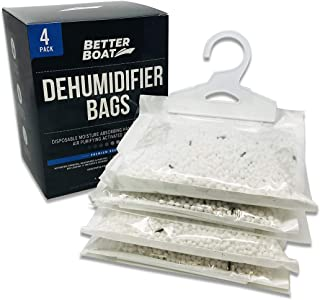 Sponsored Ad - 4 Pack Boat Dehumidifier Moisture Absorber Hanging Bags and Charcoal Smell Remove Damp Musty Smell   Baseme...