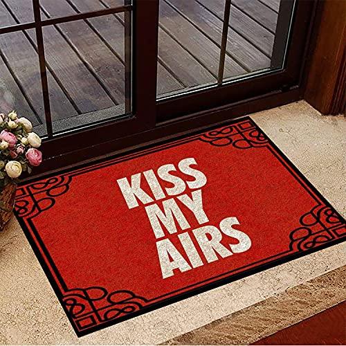 TIANTURNM Felpudos Entrada casa Felpudo Kiss My Airs Felpudo Rojo Divertido Estera de Bienvenida Puerta de Entrada al Aire Libre Nueva Idea de Regalo para el hogar Hogar Regalos 16'x24'