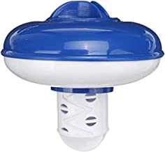 WYZXR Dispensador de Productos químicos para SPA con Tableta Flotante Dispensador de Cloro para Piscina Flotante Soporte para Productos químicos, Fondo retráctil