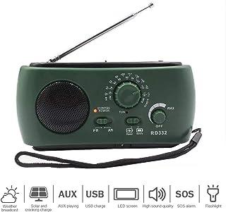 Goofly Multiple Use Solar Powered Power Generation by Hand FM Radio 3LED Flashlight USB Charging Emergency Charger Emergen...