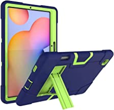 FanTing for Huawei MediaPad M6 Turbo 8.4 case,With bracket,all-inclusive design, three-layer ultra-thin shock-proof and durable Protective Case for Huawei MediaPad M6 Turbo 8.4-Navy Blue+Olivine