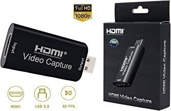 YETASI HDMI Video Capture,HDMI to USB 1080p USB2.0 Audio Video Capture Cards Record DSLR Camcorder Action Cam High Definition Acquisition,Live Broadcasting,Live Gaming (HDMI Video Capture)