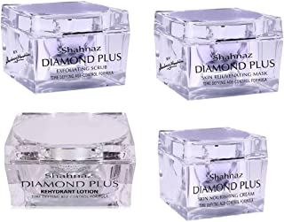 Shahnaz Hussain Diamond Plus Facial Kit (Pack of 4)