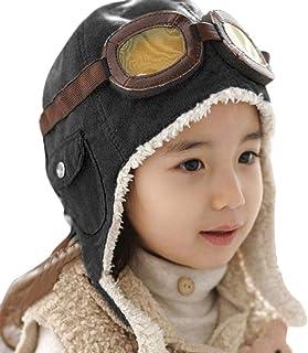 بيشيز افياتور قبعة الصوف قبعة دافئة لطيفة أزياء الشتاء مع أغطية للأذنين للأطفال والأولاد والبنات