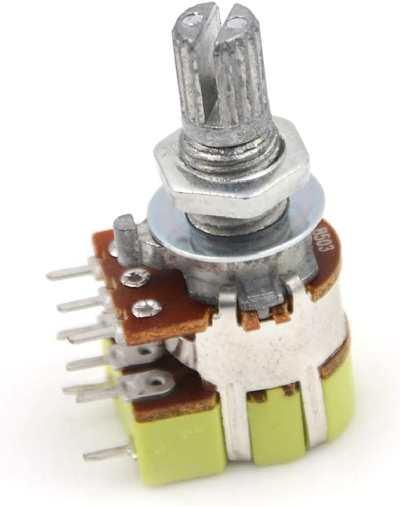 sale XIALITR Micro Switch 1pcs B50K 5 ☆ popular 50K Linear Taper Dual Ohm Volume