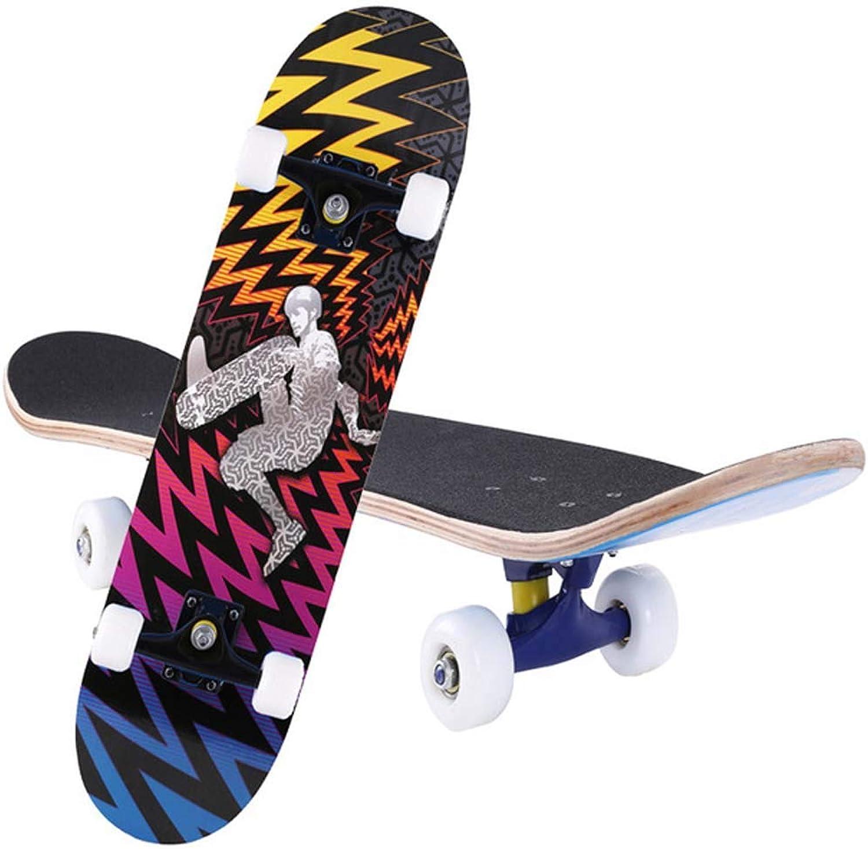 Skateboard, komplettes Skateboard mit mit mit 4PU Wheels Maple Deck 79cm für Erwachsene Anfänger und Profis B07P8QZ7M9  Saisonale Förderung 5505e9
