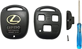 Cutting Not Required Replacement Keyless Entry Remote Key Fob Case Cover fits for Lexus ES GS GX IS LS LX RX SC IS300 IS33...
