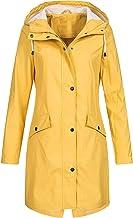 HarryHyar Dames Waterbestendig Rain Jacket Hooded regenjas Lined Outdoor windjak Lange mouw Zipped trench Jassen