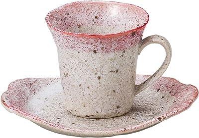山下工芸 カップ_ソーサー ピンク φ8.3×7.8cm(180cc) 渕コーヒー碗皿 15051100