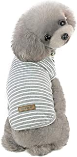 Pet Heroic Small Dog Cat Puppy Knit Sweater Clothes Comfortable Small Dog Sweater Cat Sweater Puppy Sweater Clothes for Small Dogs Cats Puppy Pink Red Blue Grey - Weight 2.5-20 pounds