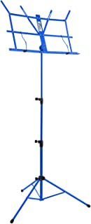 Tiger MUS49-BL Portable Easy Folding Music Stand - Blue