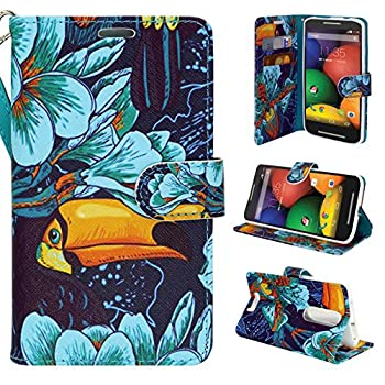Moto Droid Turbo 2 Case Moto X Force Case Kinzie Bounce Case - Customerfirst Magnetic Flip Wallet Case with Stand Feature for Moto Droid Turbo 2 - Free Emoji Key Chain  Parrot