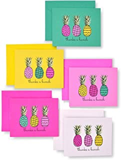 Zoomerang Neon Pineapple 'Thanks A Bunch' Thank You Card Set, 50 Count