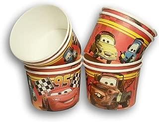Disney Cars Grand Prix Birthday Party - Snack Cups - Mini Popcorn Box - Set of 8