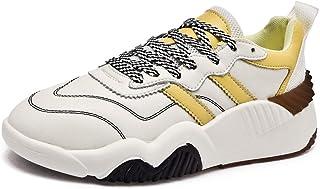 ASMCY Mujer Zapatos Deportivos, Ligero Respirable Cuero Aptitud Atlética Zapatillas, Casual Moda Al Aire Libre Zapatos par...