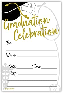 Medical or Nursing School Graduation Invitations (20 Count) With Envelopes