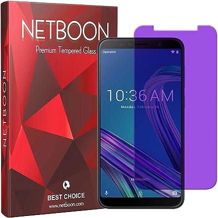 NETBOON® Premium Tempered Glass Screen Protector HD Clear Anti-Blue Gorilla Glass Screen Guard for Zenfone Max Pro (M1) - Transparent