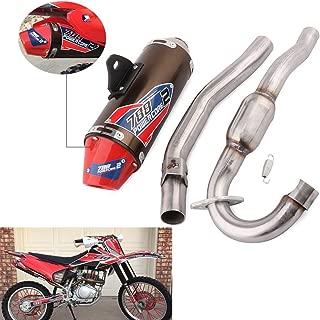 Motorcycle Slip On Exhaust Muffler Pipe Stainelss Steel Full System For For Honda CRF150F CRF230F 2003-2013 03-13 Motocross Motorbike Dirt Bike