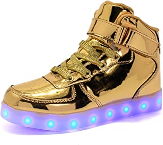34a32c2c1b A2kmsmss5a Children High Top Dance LED Light Up Shoes USB Sneakers for Kids  Boys Girls