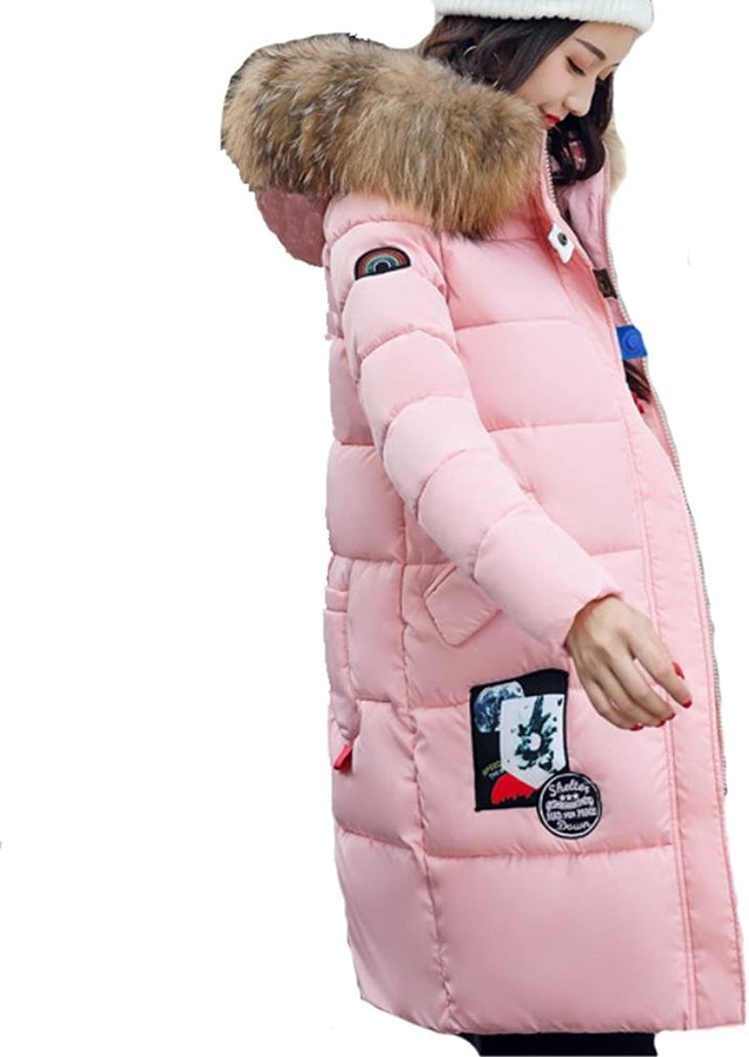 YANXH Winter The New Female Down Jacket In The Long Section Slim Cotton Coat