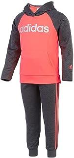 Adidas Girls' Tricot Zip Jacket and Pant Set
