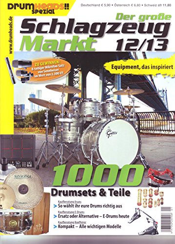 Schlagzeug Markt 12/13 Kaufberatung Drums E-Drums Kopfhörer