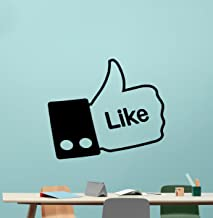 Like Sign Wall Decal Like Symbol Hand Vinyl Sticker Facebook Like Symbol Living Room Wall Decor Cool Wall Art Design Bedroom Wall Decor Mural 254xxx