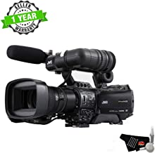 JVC GY-HM850U ProHD Compact Shoulder Mount Professional Video Camera Camcorder with Microphone and Fujinon 20x Lens - Starter Bundle (International Model) with 1 Year Seller Warranty