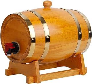 HWhome Distributeur De Fûts en Bois Pur De 3L/5L/10L/15L/20L/30L/50L Whiskey Barrel avec Garniture De Papier Aluminium Int...