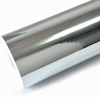 "TECKWRAP 11.5"" x 60"" Chrome Mirror Silver Vinyl Wrap Adhesive Car Sticker Decal Film"