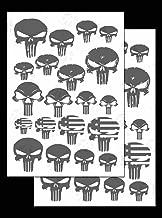 Acid Tactical 2PACK Camouflage EasyPeel Spray Paint Cerakote Camo Gun Stencils Punisher Skulls