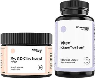 Myo & D-Chiro Inositol Powder (90-Day Supply) + Vitex | Hormone Balance, Healthy Ovarian Function & Fertility Support | Ve...