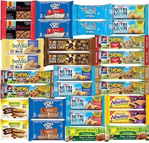 Snacks Variety Pack Granola-Bar Breakfast Bars Healthy Snack Bulk Kind Bars - Care Package (30...