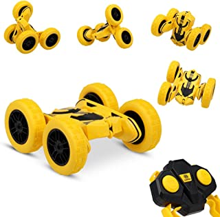 GoolRC RC Stunt Car, Remote Control Car, 360 Degree Flips Double Sided Rotating Vehicles Toys 1/28 2.4GHz 4WD High Speed Tumbling Crawler Toy Cars Gifts for Kids