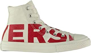 Official Converse Wordmark Hi Top Trainers Boys Shoes Footwear