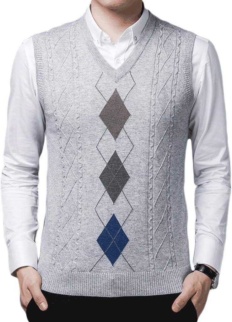 Warm Vest Rare Manufacturer direct delivery Men's V-Neck Elega Knitted Jacket Sleeveless