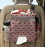 High Road Puff'nStuff Car Seatback Organizer with Trash Bag, Tissue and Bottle Holders