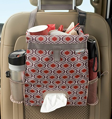 High Road Puff'nStuff Car Trash Bag and Seat Back Organizer with Tissue Holder (Sahara)