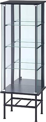 Legras(レグラス) コレクションケース フィギュアケース 4段 幅48.6×奥行38.2×高さ142cm ブラック 背面ミラー付き 99499 【amazon限定ブランド】