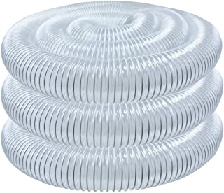 POWERTEC 70143 PVC Dust Collection Hose (4 Inch x 20 Feet) | Flexible Clear Vue Heavy Duty PVC Hose