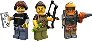 LEGO Video Game Player, Dinosaur Hunter, Space Miner Collectible Minifigures Series 12 Custom Bundle