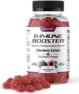 Snap Supplements Immune Booster Elderberry Gummies with Vitaminc C, Propolis, Elderberry, Echinacea Extract...