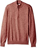 IZOD Men's Big and Tall Saltwater Marled Waffle 1/4 Zip Sweater, Andorra, Large Tall