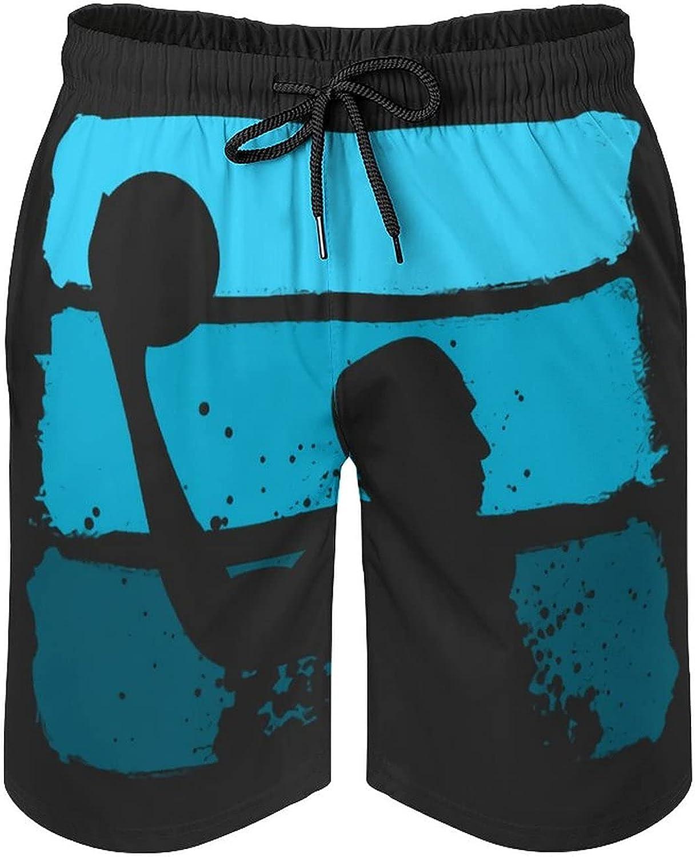 Water Ball Sport Game Sport Men's Summer Quick Dry Swim Trunks Casual Board Shorts Beachwear for Boys Men