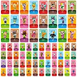 Uniq Fliker 72PCS ACNH NFC Tag Game Villager Invitation Amiibo Card-New Horizons Animal Crossing Series Game, Cards Series for Switch/Switch Lite/Wii U/3DS