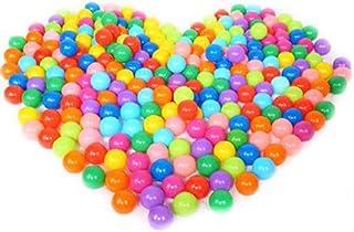 beb/é Pl/ástico Blando no t/óxico Juguetes para Nadar Juguetes para ni/ños a Prueba de aplastamiento BriskyM 100pcs Bolas de Colores Bolas de Pit Libre de ftalato