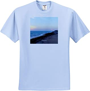 Image of Atlantic Ocean at Palm Beach 3dRose Lens Art by Florene Fantastic Florida T-Shirts