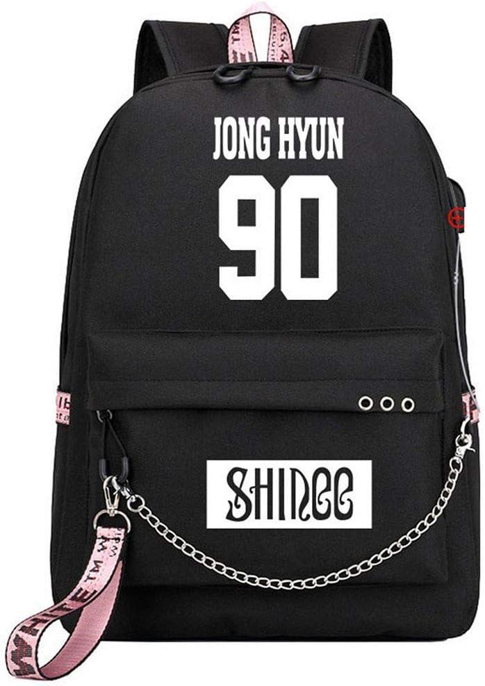 JUSTGOGO Import Department store Korean KPOP SHINee Backpack School Bag Handbag Daypack